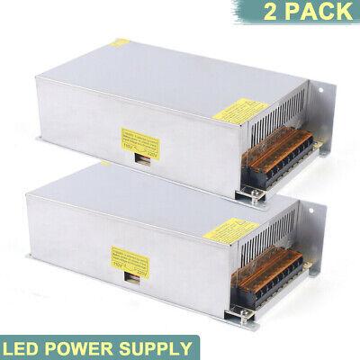 2pcs 110v-220v To Dc 12v 50a Led Strip Light Driver Power Supply Adapter 600w