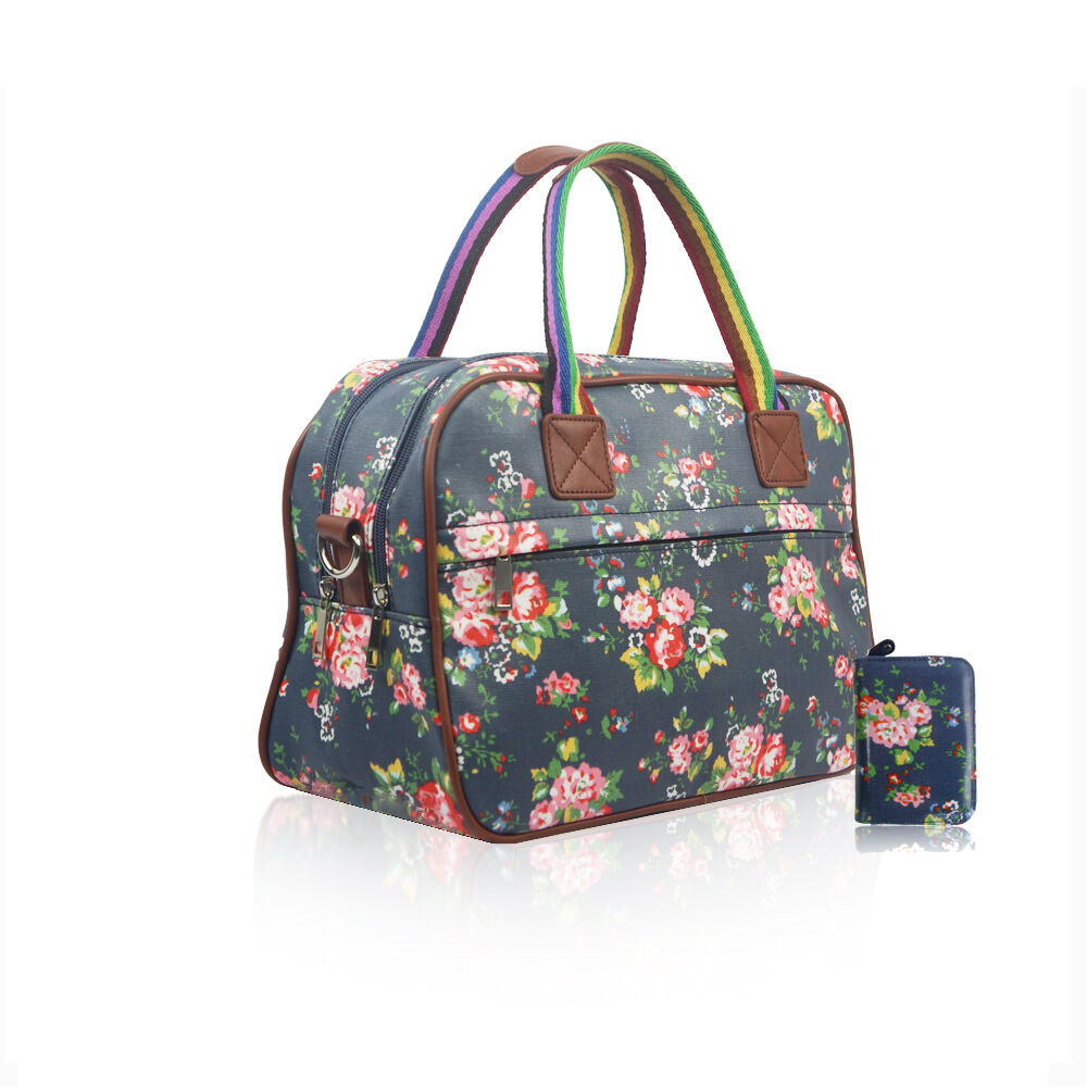 Ladies Floral Flower Maternity Day Overnight Bag Travel ...