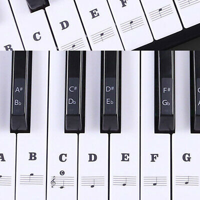 Music Keyboard /Piano Stickers 88/61/54/49 Key Set Learn to