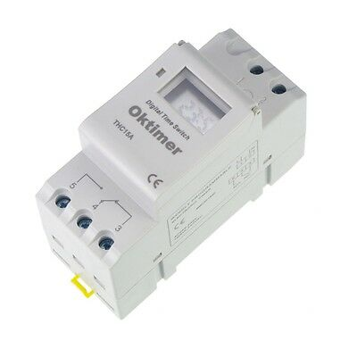 1pcs Din Rail Digital Programmable Timer 24vdc 16a Time Relay