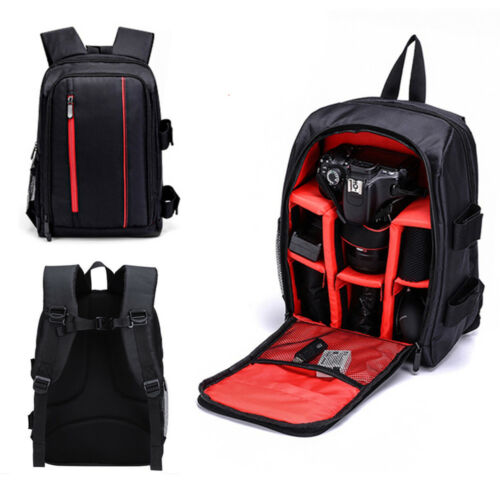 Extra Large DSLR Waterproof Camera Backpack Shoulder Bag Case For Canon Nikon US