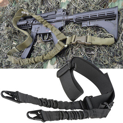 Black Adjustable Tactical Sling 2 Two Point Bungee Dual System Strap Hunting 1