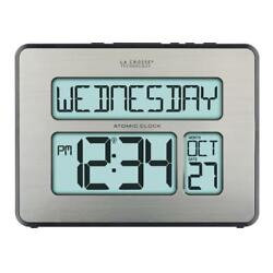 Atomic Digital Full Calendar La Crosse Wall Clock C86279 Extra Large Numbers New