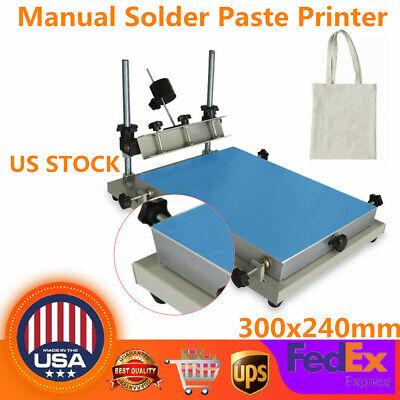 Professional Solder Paste Printing Machine Pcb Smt Manual Stencil Printer