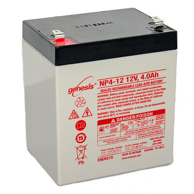 Enersys Enersys Genesis Np4 12   12 Volt 4 Amp Hour Sealed Lead Acid Battery Wit