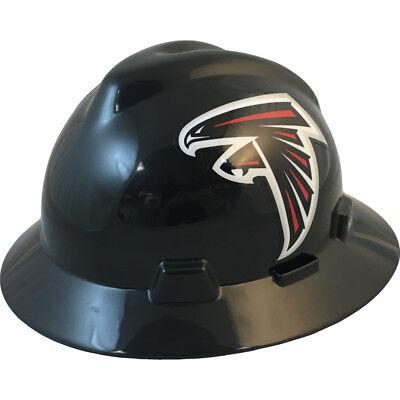 "MSA V-Gard FULL BRIM ATLANTA ""FALCONS"" NFL Hard Hat Type 3 RATCHET  Susp"