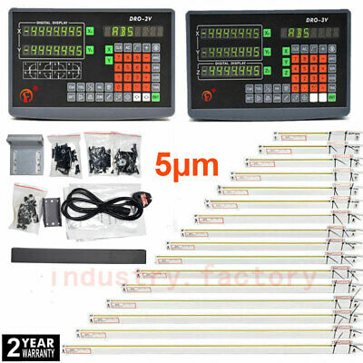23 Axis Dro Digital Readout Display 5m Ttl Linear Scale For Bridgeport Milling