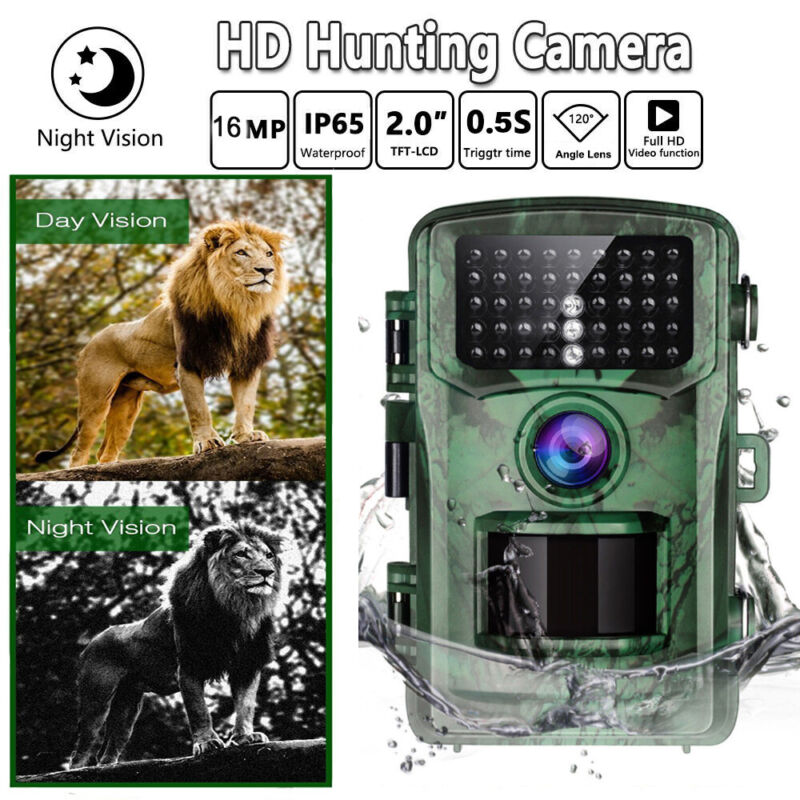 TOGUARD+Wildlife+Trail+Camera+16MP+FHD+Hunting+Game+Cam+PIR+Night+Vision+Camera