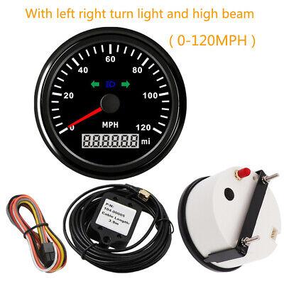 GPS Speedometer Odometer 120MPH With light Red Backlight 12V 24V General model