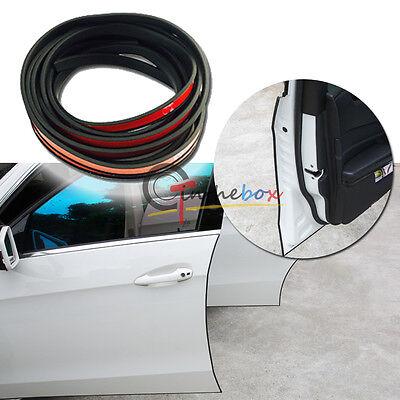 JDM Black 4.5M Rubber Body Side Door Edge Guard Bumper Protection Sticker Strip