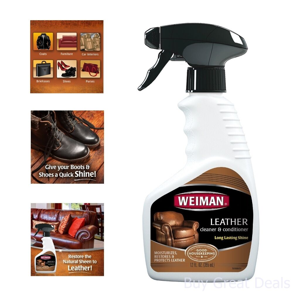 Details about New Weiman Leather Cleaner and Conditioner Chairs Sofas Couch  Sofa Seat
