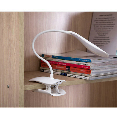 LED Dimmable Touch Sensor Table Light Desk USB Rechargeable Clip-On Reading Lamp