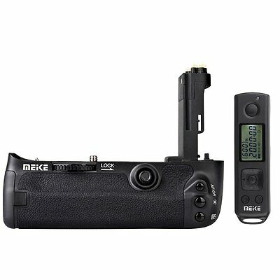 MEIKE MK-5DS R 2.4G Battery Grip Holder + Wireless Remote Control for Canon 5D