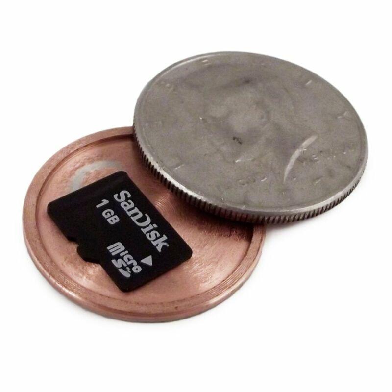 Micro SD Card Covert Spy Coin Secret Compartment (Nickel, Quarter, Half Dollar)