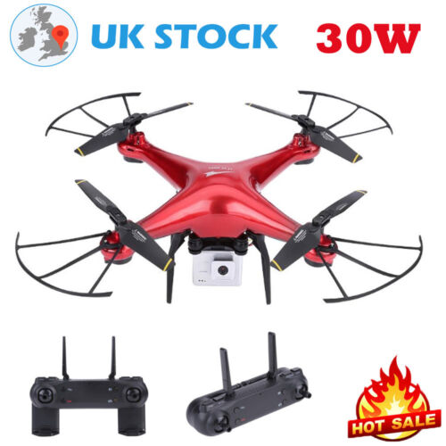 Red Mini 2.4ghz Upgraded Wifi Fpv Rc Drone 1080p Wifi 4k Ultra Hd Camera Led New