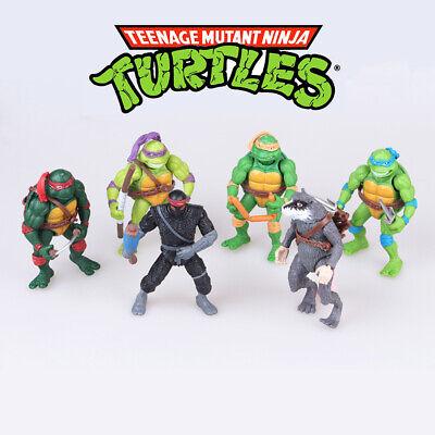 Teenage Mutant Ninja Turtles 6 PCS TMNT Action Figure Kids Gift Cake Topper Toys - Teenage Mutant Ninja Turtle Cake