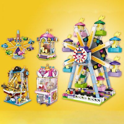 Amusement Park S -Pirate Ship Ferris Wheel Merry-Go-Round -Fun Toy-Best DIY