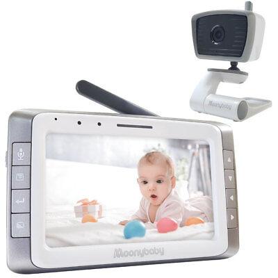 "Moonybaby 5"" Large LCD Video Baby Monitor, SINGLE Camera system,MANUALLY Rotated"