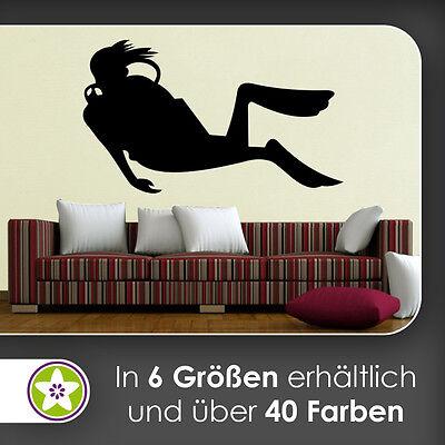 waf1314 - Taucher Wandtattoo KIWISTAR - Aufkleber