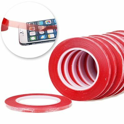 25M RED Film 3M Transparent DOUBLE SIDED STICKY ADHESIVE TAPE Cell Phone -