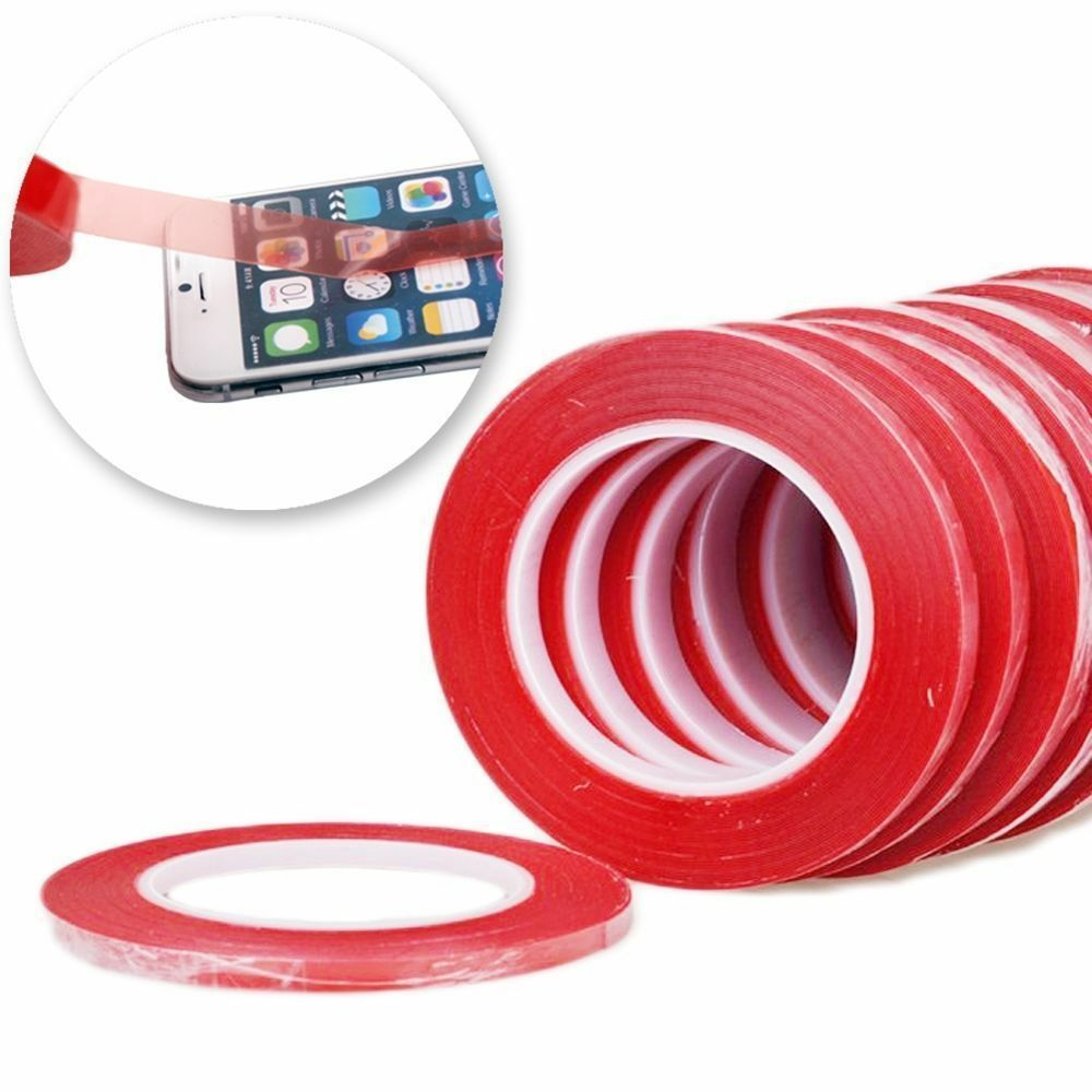 25m red film transparent double sided sticky