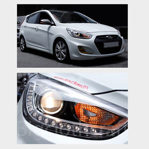 New-LED-Projection-Day-Light-Head-Light-Lamp-Right-OEM-for-Hyundai-ACCENT-12-14