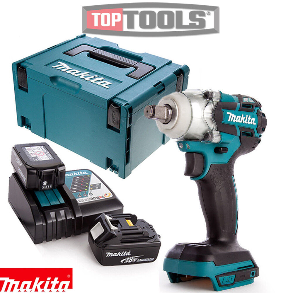 Makita DTW285Z 18V Brushless Impact Wrench Body with 1 x 5Ah Battery