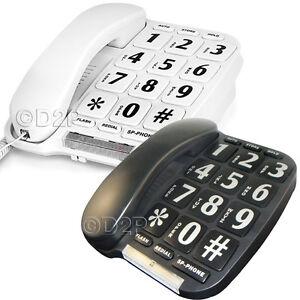 BIG BUTTON LANDLINE HOME CORDED TELEPHONE LARGE JUMBO ELDERLY DESK WALL