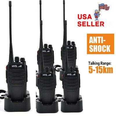 10Watt Power VHF 136-174MHz Ham Radio Two Way Portable Walkie Talkie 5-15KM 16CH