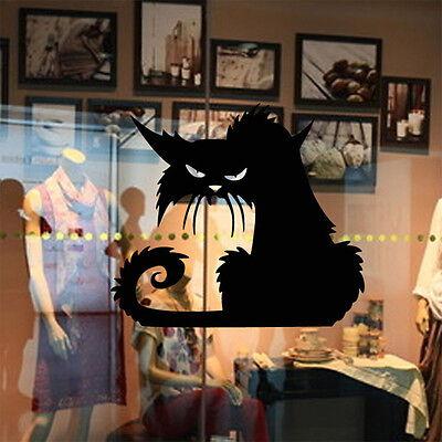 Halloween Favor Large Scary Black Cat Window Sticker Decor Wall Sticker Decal HS - Scary Halloween Window