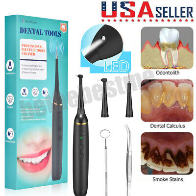 Sonic Electric Dental Scaler Tartar Calculus Plaque Remover Teeth Stains Cleaner