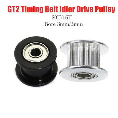 Gt2 6mm 10mm Timing Belt Smooth Tooth Idler Drive Pulley 16 20 Bore 3 5