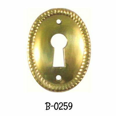 3-34 X 1-38 E-16 Horizontal cover Roll Top Desk Keyhole Brass Cover