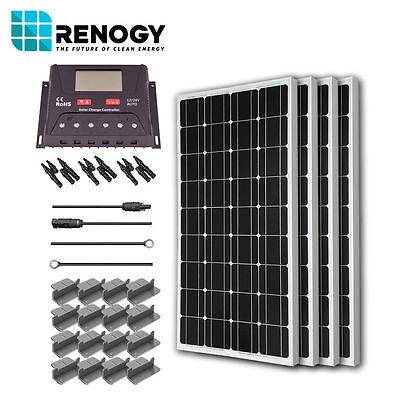 Renogy Solar Panel 400 Watt Starter Kit 12V Rv Boat 100W Mono Off Grid System