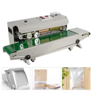 Automatic Horizontal Continuous Film Plastic Bag Band Sealing Sealer Machine - NEW - FREE SHIPPING