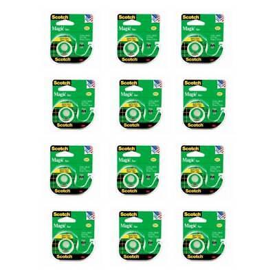 Scotch Magic Tape With Dispenser Refillable 3m 105 Transparent Matte 12-pack