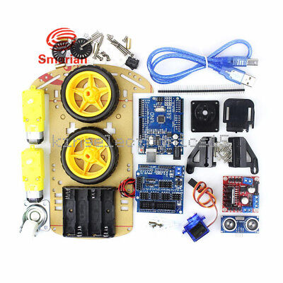 Avoidance Tracking Motor Smart Robot Car Chassis Kit 2wd Ultrasonic Arduino