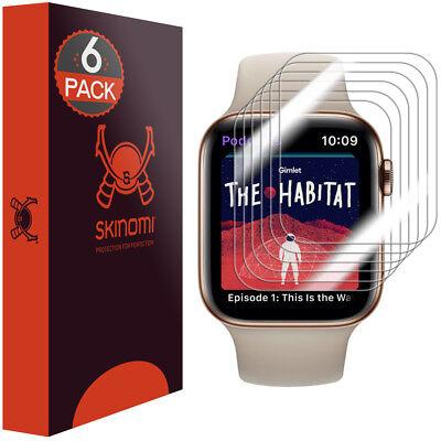 6 X Clear Film - 6x Skinomi TechSkin Clear Film Screen Protector for Apple Watch Series 4 (44mm)