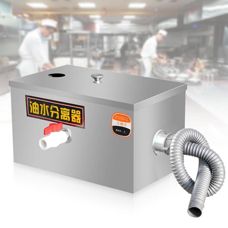"13.8*9.8*9"" Grease Trap Interceptor Stainless Steel For Restaurant Kitchen"
