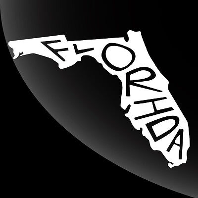 Florida FL State Pride Decal Sticker - TONS OF OPTIONS Fl State