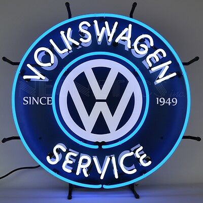 Volkswagen Service Neon Sign VW  5VWSRV w/ FREE Shipping