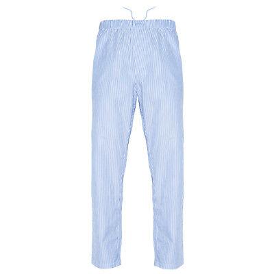 Ritzy Men's Pajama Pants 100% Cotton Plaid Woven Poplin - B&B (Woven Poplin Pants)