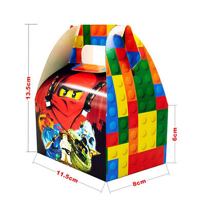 Ninjago Ninja Theme Party Candy / Snack / Gift Paper Box for Kids Boys - Party Theme For Girls