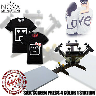 4 Color 1 Station Silk Screen Commercial Printing Press Machine