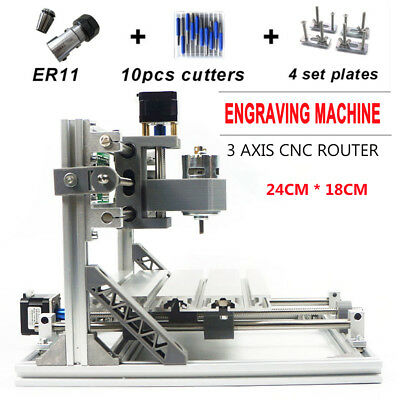 Usb 3 Axis Diy Cnc 2418 Desktop Wood Engraving Machine Pcb Mill Router Engraver