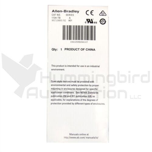 2021 NEW Allen Bradley 1734-TB /A POINT I/O Module Terminal Base 1734-MB 1734RTB