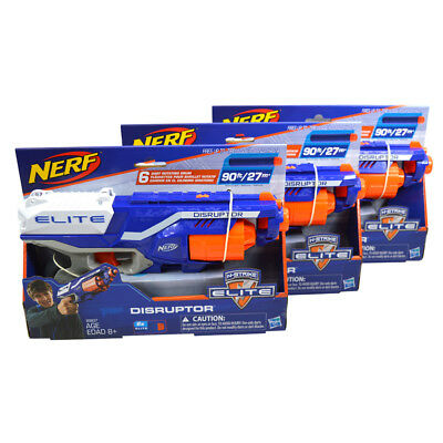 (Lot 3) Nerf Gun N-Strike Elite Toy Blaster Disruptor 6-Dart Clip Pistol