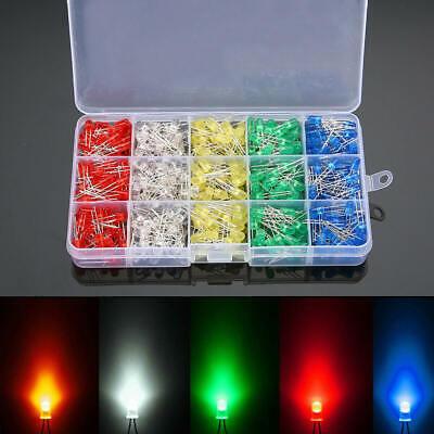 500 X Led Diode Light Emitting Led Assortment Kits Electronics Components