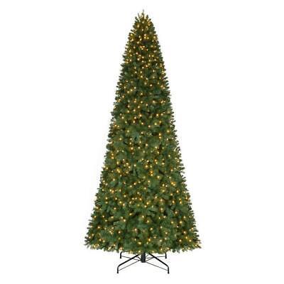 12 ft. Pre-Lit LED Morgan Pine Quick Set Artificial Christmas Tree White Lights