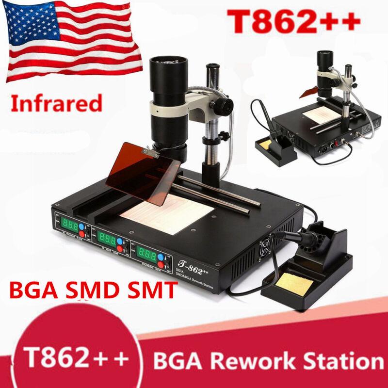 T862++ BGA Infrared Rework Station SMD IRDA Heating Soldering Welder Machine US!